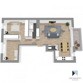 *** SOUS COMPROMIS *** SOUS COMPROMIS *** SOUS COMPROMIS *** Situé dans une rue calme à Gasperich, au 1er étage (ascenseur) d'un petit immeuble résidentiel en construction, cet appartement (Lot no9) d'une seperficie ± 72 m² se composera comme suit :  Le hall d'entrée ± 4 m² avec wc séparé ± 2 m² dessert le séjour ± 35 m² avec cuisine équipée et accès au balcon ± 6 m² orienté nord, la salle de bain ± 5 m² et deux chambres de ± 12 et 13 m² avec placards intégrés.  Buanderie commune, cave ± 4 m², emplacement vélos  Prix annoncé avec TVA à 17% = 740 916 € Prix annoncé avec TVA à 3% (privé) = 690 916 €   Généralités:  Disponibilité: fin des travaux - 2020 Situation idéale : - Large offre de transports en commun depuis et vers la ville (bus, futur tram) - Ban de Gasperich : Lycée vauban, écoles, centre commercial, grand parc arboré, accès autoroutiers.