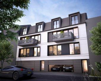 C'est dans le quartier recherché de Luxembourg-Weimerskich que sera construite cette belle maison bi familiale, 3 étages, comprenant 1 appartement et 1 duplex (fin des travaux prévue pour début 2023).   Au 1er étage, vous y trouverez votre futur appartement de ±62 m² dont ±50 m² habitables, agencé de la manière suivante:  Un hall d'entrée de ± 6 m² dessert le séjour ± 19 m² avec en suite la cuisine ±8 m², 1 chambre ± 12 m², au calme , à la hauteur du jardin, 1 salle de douche ±4 m² (douche, lavabo et wc).  L'atout de cet appartement est son jardin ±18 m², accessible par une terrasse de 5 m².  Au rez-de-chaussée : un emplacement ±17 m² dans le garage privé et un local poubelles.  Au sous-sol : l'appartement bénéficie d'une cave de ± 7 m². Les pièces communes sont la buanderie, la chaufferie et 2 locaux techniques.  Détails complémentaires: - Passeport énergétique – *A-A*; - Meubles cuisine et salle de douches de marque et de qualité; parquet et    carrelage luxueux; - Vidéophone; - Rangement (placards); - Animaux acceptés; - Proximité des transports en commun, crèche et écoles, restaurants,    commerces, Institutions européennes et centre ville.    Prix : 857.538 €  Ce prix comprend la taxe sur la valeur ajoutée luxembourgeoise à raison de 17%. Le cas échéant (acquisition pour compte propre), nos services formuleront en votre nom les demandes en vue de l'application de la TVA 3 %. Pour toutes les tranches non encore réalisées à l'acte, la facturation pourra se faire directement à 3 % de TVA. Le montant maximal de TVA à récupérer est fixé légalement à 50 000.-€ par logement. Le projet est conçu pour correspondre aux critères énergétiques d'un immeuble à haute performance énergétique (A-A), avec une très faible consommation énergétique.  Si vous désirez acquérir en vue de louer, votre investissement profitera pendant l'année d'achèvement et les cinq années suivantes d'un amortissement accéléré de 5% par an (4% pour une valeur amortissable au-delà de 1 moi €), déductibl