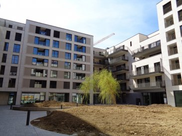 Appartement à louer au 2ème étage, dans le nouveau quartier de la Cloche d'Or, 1ère occupation.  - hall d'entrée - grand séjour de 27m² avec coin cuisine équipée, sortie sur balcon de 13,3m² - salle de bain - chambre à coucher, sortie su balcon - cave - 1 emplacement intérieur.