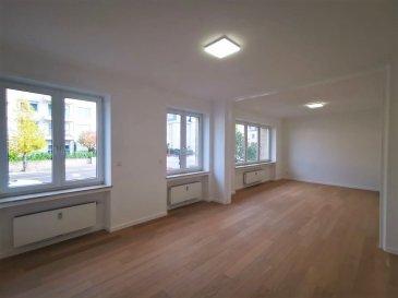 Dalpa SA vous propose à louer, un charmant appartement entièrement rénové de 3 chambres à coucher sur +/- 126 m², situé à Luxembourg-Belair et à quelques pas du Parc de Merl.   Disponibilité : immédiate   L'objet se situe au : 2, rue de Bragance, L-1255  Situé au RDC l'appartement se compose :  - 1 spacieux hall d'entrée avec un accès direct à l'ascenseur - 1 cuisine équipée  - 1 vaste pièce de séjour & salle à manger très lumineuse - 3 chambres à coucher dont une avec salle de douche ainsi qu'un balcon - 1 salle de bain - 1 WC séparé  Au sous-sol une cave complète ce bien.   Possibilité de louer un garage fermé pour un supplément de 250 €  Situé au plein cœur du centre-ville, Belair est un quartier recherché pour son calme et sa qualité de vie. Le quartier doit sa popularité surtout grâce à sa proximité aux commerces, ainsi que ses entourages verts dont celui du Parc de Merl.   Nous sommes à votre entière disposition pour tous renseignements complémentaires ou visites des lieux. Veuillez contacter Antonio Lobefaro sous le numéro + 352 621 469 311 ou par mail sur info@dalpa.lu   Si vous souhaitez vendre ou louer votre bien, nous mettons à votre disposition notre professionnalisme, savoir-faire ainsi que notre qualité de service. Nous vous proposons des estimations rapides, gratuites et réalistes.  ENGLISH VERSION  Dalpa SA offers for rent, a charming, completely renovated apartment of 3 bedrooms of +/- 126 m², located in Luxembourg-Belair, a few steps from Parc de Merl.  Availability : immediate  The object is located at: 2, rue de Bragance, L-1255  Located on the ground floor, the apartment is composed as follows:  - 1 spacious entrance hall with a direct access to the elevator - 1 equipped kitchen  - 1 very luminous and extensive living & dining room  - 3 bedrooms one of which has a shower room and a balcony - 1 bathroom  - 1 guest WC   In the basement a cellar completes this ensemble.  Possibility to rent a closed garage for an additional 250 €  Located in the he