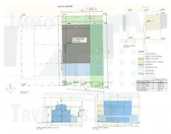 Ce projet de cette nouvelle maison contient une surface habitable de +/- 150 m2 sur un terrain d'une superficie de 1ares 39centiares.  La maison se compose d'un rez-de-chaussée d'un garage pour pouvoir stationner 2 voitures, un hall d'entrée, un bureau, un débarras et un local technique.  Au 1. étage se trouve un séjour/cuisine de +/- 30 m2 avec une terrasse de +/- 18 m2 et un WC.  Aux combles se trouvent 2 chambres à coucher et une salle de bain.