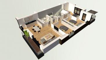 Lumineux Appartement à louer avec 3 chambres à coucher.  Dans une nouvelle résidence  1ière location  Composition de l'appartement:  Hall d'entrée  Grand Living avec cuisine équipée ouverte et accès au balcon (+/-10m2)  Salle de bain avec douche italienne et sanitaire (tout équipée)  3 chambres à coucher, une avec balcon (+/-8m2)  WC séparé  Surface: habitable +/-103m2 + balcons 18m2  Stationnement intérieur dans garage  Disponible à partir du 15.03.2020  Excellente Situation géographique   Spécifiés techniques :  - Ascenseur (privatif)  - Ventilation contrôlée double flux  - Chauffage au sol  - Châssis PVC Triple vitrage  - Stores électriques Raffstore  - Finitions haut de gamme  La résidence est érigée près du Kräizbierg à Dudelange, à deux pas du centre-ville/école primaire/secondaire/centres commerciaux/parc Le'h et avec bon accès aux grands axes de circulation.