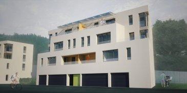 Homeseek Belair (+352 691 566 314) vous présente en avant-première ce penthouse (A.6) en vente en état de futur achèvement de 72,14m²  dans une résidence composée de 6 appartements aux finitions haut de gamme! Les travaux débuteront en mars 2019.  Ce dernier, situé au 3e étage, est composé comme suit: - deux chambres-à-coucher  - un débarras - une salle-de-bain - un espace cuisine ouvert sur ; - un living et salle-à-manger donnant accès à ; - une terrasse communicante d'environ 12m² entre le living et la chambre-à-coucher  avec vue imprenable sur la nature - un hall vestiaire  Se situent au rez-de-chaussée: - la cave (inclus dans le prix annoncé) - l'emplacement intérieur  - la buanderie (en partie commune) - le local poussettes / vélos (en partie commune) - le local technique  L'emplacement intérieur privatif à 15366' n'est pas inclus dans le tarif.  Sont notamment situés en parties communes 6 emplacements extérieurs, au prix de 10244' par emplacement (offre suivant disponibilité).  Une pompe à chaleur et des panneaux solaires assureront le bon fonctionnement des installations chauffages et sanitaires.    Sont également disponibles dans la même résidence: les appartements A.1, A.2, A.3 et A.4 ainsi que le penthouse A.5, à différentes surfaces, respectivement une terrasse à la place d'un loggia pour le penthouse A.5.  Les prix s'entendent 3% TVA inclus, sous condition d'acceptation de votre dossier par l'administration de l'enregistrement et des domaines.  N'hésitez pas à nous contacter au +352 691 566 314 pour de plus amples renseignements. Ref agence :4919452-HB-SMI