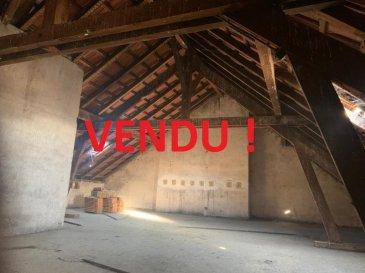 METZ -SABON.  VENDU-------------------------------------------VENDU---------------------------------------VENDU<br> Au dernier étage d\'un bel immeuble (5ème étage sans ascesseur), plateau en combles à aménager.<br> Laissez libre cours à votre imagination et, réaliser selon vos envies l\'aménagement de ce plateau de 120 m2 au sol. L\'électricité, l\'eau et les évacuations sont déja là...<br> Un emplacement idéal en angle de rue, proche de tout commerces, des axes routier, et à 2 minutes de la gare.<br> AGENCE VENNER 03 87 63 66 38 - 07 87 01 95 93