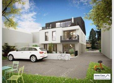 Immo Casa vous propose à Dudelange:<br>Construction d\'une nouvelle résidence à 4 appartements avec ascenseur.<br>Classe énergétique AAA, en futur état d\'achèvement.<br>(Réservez dès maintenant)<br>La résidence dispose au rez-de-chaussée d\'un appartement de 75 m2 avec terrasse de 20 m2.<br>Prix de 429.450€.<br>Un Duplex de 75m2 avec terrasse de 20 m2.<br>Prix de 438.025€.<br>Au 1er étage, un appartement  de 75m2 avec balcon 7m2.<br>Prix de 378.921€.<br>Au 2e étage, un Penthouse de 96 m2 avec terrasse de 23 m2.<br>Prix de 542.721€.<br>Au sous-sol, vous disposez de caves, buanderie commune, local à poubelles, local technique, local à vélos etc<br>Possibilité d\' acheter un emplacement intérieur ou extérieur<br>Cahier des charges et plans sur demande à l\'agence.<br><br>Les prix indiqués s\'entendent avec TVA 3 % (sous acceptation de l\'Administration de l\'Enregistrement)<br>Nous sommes aussi disponibles pour les visites le samedi selon la disponibilité des propriétaires.<br>Pour de plus amples renseignements, veuillez contacter notre Agence.<br>Pour d'autres annonces non présentés sur ce site, visitez www.immocasa.lu<br><br>Nous recherchons en permanence pour la vente et pour la location des appartements, maisons, terrains à bâtir et projets autorisés pour clientèle existante. Achat éventuel par notre société.<br>N'hésitez pas à nous contacter si vous avez un bien ou plusieurs pour la vente.<br>Nos estimations sont gratuites.<br><br>Acheter du neuf c'est avoir la garantie et la tranquillité pour des années.<br>Acheter directement au promoteur, c'est avoir des informations claires et la garantie<br>du meilleur prix.<br />Ref agence :TC1906292