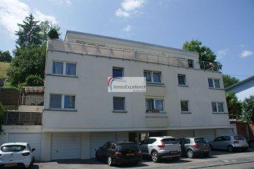 RESERVE ! IMMO EXCELLENCE vous propose ce joli appartement d'une surface habitable de 80.82 m2 situé au deuxième étage d'une Résidence. L'appartement se compose comme suit : Un hall ( 9.08 m2 ), un double séjour ( 21.83 m2 ), une chambre-à-coucher ( 13.83 m2 ), une deuxième chambre-à-coucher ( 14.34 m2 ), un débarras ( 0.84 m2 ), une salle-de-bains ( 4.92 m2 ), une spacieuse terrasse ( 14.15 m2 ), un garage fermé ainsi qu'un emplacement extérieur. Disponibilité 01.10.2021.  L'appartement se situe à proximité de toutes commodités.  Echternach est une ville du Luxembourg d'environ 5 600 habitants et le chef-lieu de son canton, le long de la vallée de la Sûre marquant la frontière avec la Rhénanie-Palatinat allemande.  Elle est surtout connue pour son abbaye et sa procession dansante le mardi de la Pentecôte.  Echternach se trouve à 25 minutes du centre-ville de Luxembourg.