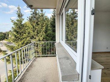PLM Immobiliere & Gestion du Patrimoine  Vous propose à vendre à Bridel :  Un appartement de 3 chambres de 103m² au 1er étage d'une résidence avec ascenseur. Entièrement rénové, spacieux et très lumineux cet appartement vous séduira par les grands espaces.  L'appartement se composé comme suit : - Hall d'entrée avec placard intégré 35m² - Cuisine semi-ouverte (11m²) sur un grand living (35m²) lumineux avec une terrasse de 5m² - 3 chambres à coucher (18, 11, 11) dont la plus grande avec un balcon situé à l'arrière de la résidence. - Salle de bain avec douche italienne - W.C. séparé  Pour compléter l'ensemble une cave privative ainsi qu'un garage font parties intégrantes de l'appartement.  Pour davantage de renseignements et visites, merci de contacter Mr. Morimont au 691.210.784.  Sérieux et disponible, nous serons vos meilleurs conseillers lors de chaque étape de votre projet immobilier.