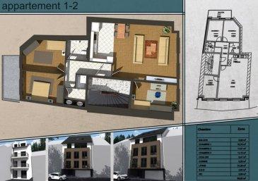***SOUS COMPROMIS*** Appartement en vente d'un surface de 89.56m² se compose de 3 chambres à coucher, emplacement pour une voiture ainsi qu'une cave.  Cette construction d'un style moderne est situé à Wiltz sur la rue du Pont. Livraison prévue 12 mois après signature de l'acte notarié La résidence se compose uniquement de 4 appartements de deux à trois chambres, avec emplacements intérieurs pour véhicule et cave privatives  1er étage: 89.56m², 3 chambres, emplacement voiture, balcon, cave et bueanderie.          Prix: 357.493.50  avec 3% de TVA après accord du bureau de l'enregistrement pour l'application de la TVA super réduite.   Pour toute information supplémentaire, n'hésitez pas à nous contacter: Bureau: 28 77 80 57 GSM: 691 080 103 ou 691 860 584  Visitez nous en agence: 43 rue d'Anvers L-1130 Luxembourg