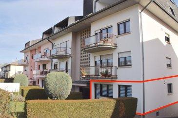 L'agence IMMO LORENA de Pétange a choisi pour vous un magnifique appartement de 91 m2 plus une terrasse et jardin de 47m2 au REZ DE CHAUSSEE avec ascenseur situé à NIEDERKORN dans une petite résidence de 9 unités, à proximité des commerces, transports en commun et toutes commodités, il se compose comme suit:  - Un hall d'entrée d'une superficie de 7,20m2 - Un double living de 21 m2 donnant accès à la terrasse et jardin de 47 m2. - Cuisine séparée et toute équipée de 11,65 m2 - Deux belles chambres de 13,50 m2 et 14,80 m2  - Un dressing/débarras de 2,65 m2 - Salle de douche de 4,03 m2 - Un wc séparé de 1,8 m2  CARACTERISTIQUES DE L'APPARTEMENT:  - Triple vitrage - De belles prestations  - Cave privative - Belle terrasse donnant accès au jardin de 47 m2 - Toutes les portes ont été remplacées en 2017 - L'appartement possède un garage fermé  - Pas des travaux à prévoir.     A VOIR ABSOLUMENT!!!!  Pour tout contact: Joanna RICKAL: 621 36 56 40 Vitor Pires: 691 761 110   L'agence ImmoLorena est à votre disposition pour toutes vos recherches ainsi que pour vos transactions LOCATIONS ET VENTES au Luxembourg, en France et en Belgique. Nous sommes également ouverts les samedis de 10h à 19h sans interruption.