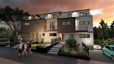 NOUVELLE REALISATION <br>Penthouse<br><br>EFA Promo a le plaisir de vous proposer un projet de 3 appartements de haut standing situé à Pétange .<br>Promoteur expérimenté depuis de nombreuses années, EFA PROMO réalise une résidence qui vous séduira par son agencement pratique, ses finitions haut de gamme où vos idées seront étudiées et appliquées afin que votre nouveau chez vous vous ressemble..<br><br>Notre équipe a travaillé sur ce projet depuis de nombreux mois pour satisfaire une clientèle de plus en plus demandeuse .<br>Avec une vue imprenable ou la nature et le calme seront au rendez-vous. <br>situation magnifique <br><br><br>Appartement au 2ième étage: <br>- Surface: 78,22m2<br>- 2 Chambres <br>- Terrasse 29,14m2<br>- 1 Cave privative<br> <br><br>Possibilité d\'acquérir des emplacements<br><br>Vous souhaitez recevoir notre cahier des charges et les plans € Vous souhaitez des renseignements€ <br><br>Ne passez pas à coté de cette occasion unique.<br><br>Contactez:<br><br>Emmanuel:<br>Tél: 691 355 050<br>Mail: manuefapromo@gmail.com<br><br>Jordan:<br>Tél: 691 129 633<br>Mail: jordan@efapromo.lu