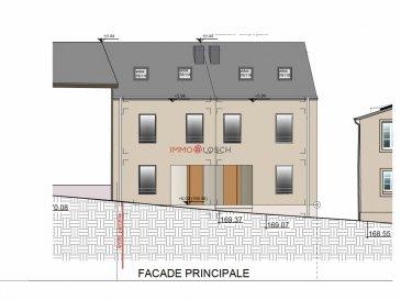 Projet VEFA à Remich: Maison jumelée moderne (+105m2) avec 3 chambres à coucher, 2 salles de douche et un jardin.<br><br>Le projet sera érigé au coeur de Remich proche de crèches, écoles maternelles, primaires et secondaires, centres commerciaux, restaurants et commerces de proximité et à 600m de l\'Esplanade.<br><br>Le logement sera construit avec des matériaux de pointe et bénéficiera de tout le confort moderne:<br><br>REZ-DE-CHAUSSE (31m2)<br>- garage (18m2) (sujet à autorisation supplémentaire)<br>- Hall d\'entrée<br>- vestiaire<br>- WC séparé<br>- cuisine ouverte<br>- séjour / salle à manger avec accès sur le jardin (32m2)<br><br>ETAGE 1 (48m2)<br>- Hall<br>- chambre 1<br>- chambre 2<br>- salle de douche<br>- buanderie / local technique<br><br>ETAGE 2 (24m2 + 12m2 <2m)<br>- hall<br>- chambre 3 (suite parentale)<br>- salle de douche avec WC<br>- rangement<br><br>Prix affiché: TTC 3%<br>Prix TTC 17%: 941.671,59.- EUR<br><br>Une cuisine ou des meubles ne sont pas compris dans les prix affichés.<br><br>Pour toute information supplémentaire, n\'hésitez pas à nous contacter au 26532611 ou par e-mail à info@immolosch.lu<br /><br />VEFA-Projekt in Remich: Moderne Doppelhaushälfte (+105m2) mit 3 Schlafzimmern und Garten.<br><br>Das Projekt wird im Herzen von Remich gebaut, in der Nähe von Kindergärten, Grund- und weiterführenden Schulen, Einkaufszentren, Restaurants und lokalen Geschäften und 600 m von der Esplanade entfernt.<br><br>Die Wohnungen werden mit modernsten Materialien gebaut und mit allem modernen Komfort ausgestattet:<br><br>ERDGESCHOSS (31m2)<br>- Garage (18m2)<br>- Eingangshalle<br>- Garderobe<br>- separate Toilette<br>- offene Küche<br>- Wohn-/Esszimmer mit Zugang zum Garten (32m2)<br><br>Stockwerk 1 (48m2)<br>- Halle<br>- Schlafzimmer 1<br>- Schlafzimmer 2<br>- Duschraum<br>- Waschküche/Technikraum<br><br>Stockwerk 2 (24m2 + 12m2 <2m)<br>- Halle<br>- Schlafzimmer 3 (Hauptschlafzimmer)<br>- Duschraum mit WC<br>- Lagerung<br><br>Angezeigter Preis: inkl. M