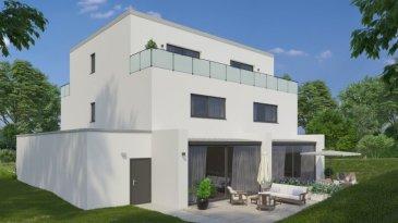 F&N Promotion sàrl vous propose cette superbe maison à Stegen, d'une architecture contemporaine érigée sur un terrain de 3.5 ares aux finitions luxueuses d'une surface totale de 229.05m2, dont une surface habitable de 157.40m2, libre de 3 cotés. À seulement 5 minutes de Schieren et 10 minutes d'Ettelbruck/Diekirch.  Elle se compose en rez de chaussée, d'un hall d'accueil de +/-13.62m2, wc séparée, living spacieux et lumineux avec une cuisine ouverte (+/-47m2) + arrière cuisine/débarras, avec accès direct à la terrasse (+/-23m2) et au jardin, et une garage avec deux emplacements.   Au premier étage, deux grandes chambres avec dressing (23.81m2 + 19.62m2), une salle de bain/douche (+/-7m2) et le palier.   Au deuxième et dernier étage vous retrouverez la suite parentale de +/-32.5m2, dont la chambre de 18m2 avec accès directe à la terrasse de 6.73m2, un dressing et une salle de bain avec accès à une 2ème terrasse de +/-6.73m2.  La cave, buanderie et la chaufferie sont au sous-sol (37.33m2).  Caractéristiques: Classe énergétique A/A/A, chauffage au sol, pompe à chaleur et panneaux solaires, ventilation double flux, triple vitrage, volets électriques, revêtements de sols et sanitaire au choix du client.   Toute modification intérieure est possible, qu'elle soit sur les équipements et les murs non porteurs.  N'hésitez pas à nous contacter pour tout complément d'information.  E-Mail: info@fn-promotion.lu GSM: +352 621 139 988  ---------------  F&N Promotion sàrl bietet Ihnen dieses hervorragende, luxuriöse und in moderner Architektur zu errichtendes Haus in Stegen, auf einem Grundstück von 3.5 Ar und einer Gesamtfläche von 229.05m2, einschließlich einer Wohnfläche von 157.40m2. Das Haus ist von drei Seiten frei. Nur 5 Minuten von Schieren und 10 Minuten von Ettelbruck oder Diekirch entfernt.  Im Erdgeschoss befindet sich eine Empfangshalle von +/-13.62m2, mit einem Gäste-WC, einem geräumigen, hellen Wohnzimmer mit offener Küche (+/-47m2), sowie auch ein Abstellraum (Hauswi