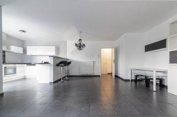 Idéalement située à Fentange, commune de Hesperange, avec vue sur l'arrière et sans vis-à-vis, cet appartement moderne occupe le deuième étage d'un immeuble récent (2011) avec ascenseur. D'une surface de ± 73 m² habitable, il se compose comme suit:  Au 2ème étage, la porte d'entrée s'ouvre sur un hall d'entrée ± 7 m² incluant un wc séparé ± 2 m² et buanderie avec sèche-linge à disposition, desservant à sa gauche, le séjour de ± 31 m² avec cuisine de ± 8 m² avec ilot. Depuis la cuisine, on accède à un balcon ± 8 m² orienté Sud-Ouest.  Au 3ème étage, un palier dessert une grande chambre ± 16m² avec espace dressing et nombreux rangements à disposition, ainsi que sa salle de douche intégrant un lavabo et un wc.  Au sous-sol, un confortable emplacement de parking (lot n°13) ± 20 m² (Maximum 1.50 de hauteur) et une cave ± 4 m² (lot n°13) et un local vélo à l'entrée complètent l'offre.  Détails complémentaires:  Idéal pour une personne seule ou un couple; Double vitrage, châssis pvc, volets électriques ; Proximité des écoles et commerces ; Situation recherchée : Hesperange est une commune dynamique, proche de Luxembourg-ville ; ( 5 km / 15 minutes) et de Gasperich/Cloche d'Or (± 4 km / 9 minutes) ; A proximité : écoles, crèches, restaurants, commerces, grand parc et bois (randonnées), pistes cyclables vers le centre-ville ; Bien desservi par les transports en commun;  Charges mensuelles évaluée: € 240 ,-.  Agent responsable: Pierre-Yves Béchet E-Mail: Pierre-Yves@vanmaurits.lu Tél.: +352 621 654 086