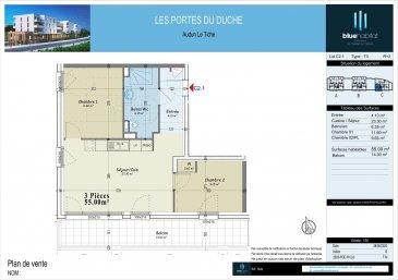 BELARDIMMO vous propose à la vente un appartement neuf avec 2 chambres à coucher à Audun-Le-Tiche, commune située à 5 minutes de la frontière <br><br>Cet appartement fait partie du programme appelé \