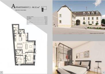 EFA Promo vous propose un appartement dans une résidence en cours de construction à Mondercange.<br><br>Utilisant des matériaux noble et chic, cette résidence de haut standing  à tous les atouts pour vous combler de bonheur.<br><br>Appartement numéro 2 situé au rdc<br><br>-Séjour / cuisine: 38.54 m2<br>-Chambre 1 : 12.37 m2<br>-Chambre 2 : 13.75 m2<br>-SDB: 5.47 m2<br>-WC : 2.74 m2 <br>-Débarras : 6.20 m2<br>-Hall de nuit : 1.93 m2 <br>-Hall : 6.18 m2<br>-Cave: oui<br><br>Prix avec TVA 3% incluse<br><br>Pour recevoir les plans et cahier des charges, contactez :<br><br>Emmanuel : 691355050<br>manuefapromo@gmail.com<br><br>Jordan : 691129633<br>Email: jordan@efapromo.lu<br><br><br>