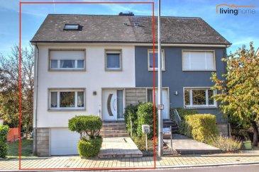 ***VENDU***Jolie maison libre de 3 côtés, construite en 1975, située dans un quartier résidentiel très calme de la localité de Mamer, avec une surface habitable de +- 155 m², implantée sur un terrain de 3 ares 53 centiares. L'état général est très bon, travaux de rénovations effectués (châssis PVC double vitrage en 2009, façade extérieure et salle de bains en 2003, toiture 2018).  DESCRIPTION:   SOUS-SOL: (51,86 m²) - garage pour 1 voiture (32,05 m²)  - remise (4,76 m²) - chaudière (8,05 m²) - hall (7,00 m²)  REZ-DE-CHAUSSEE: (49,11 m²) - hall d'entrée (7,15 m²) - cuisine (9,25 m²) avec accès balcon et terrasse, partiellement couverte, donnant sur le jardin orienté sud/ouest - séjour (31,62 m²) - WC séparé (1,09 m²)  ETAGE 1: (67,99 m²) - hall de nuit (6,66 m²) - 1 chambre à coucher (14,82 m²) - 1 chambre à coucher (16,70 m²) - 1 chambre à coucher 8,63 m²) - 1 salle de bains (5,50 m²)  ETAGE 2: (38,74 m²) - hall de nuit (7,62 m²) - 1 chambre à coucher (13,17 m²) - 1 chambre à coucher (13,03 m²) - 1 salle de douche (4,72 m²) - grenier 3,77 m²)  - 1 emplacement extérieur (entrée garage)  SITUATION GEOGRAPHIQUE: Cette propriété est située dans un quartier résidentiel très calme de la localité de Mamer et de ce fait, à proximité de toutes les commodités à savoir : Lycées, écoles primaires, crèches, centres commerciaux, commerces et restaurants locaux. Différentes lignes de bus relient Mamer en quelques minutes à la ville de Luxembourg, aéroport et gare. L'accès à l'autoroute A6 est garanti à une distance de moins de 3 km.  Nous restons à votre entière disposition pour des questions éventuelles ou une visite des lieux.   Nous recherchons en permanence pour la vente: appartements, maisons, terrains à bâtir et projets pour clientèle existante. Achat possible par notre société.   N'hésitez pas à nous contacter pour une estimation gratuite et la mise en vente de votre bien immobilier.   Pour l'obtention de votre crédit, notre relation avec nos partenaires financiers vous per