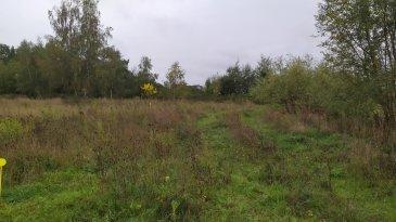 Beau terrain plat d'une surface de 8.80 ares avec une façade de 18.5 m CU positif
