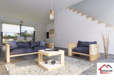 Immobiliare SA Foetz vous propose à la vente un Magnifique Appartement Duplex 3 Chambres avec dépendance de type maison mitoyenne,  composé comme suit :   Au RDC :   Pièce de vie ouverte et très lumineuse ; un espace cuisine semi- ouvert sur living - salle à manger 65m2 avec accès Terrasse de 15.80m² et Jardin de 82.49m² pour profitez du beau temps dans un bel havre de paix.   A l'étage :  Espace nuit avec trois belles chambres à coucher d'environ 12 m²,11 m²et 12m2 Chambres en duplex  supplémentaire au rez 26m2 Une salle de douche de 4m²  Combles Aménageables Deux places de parking privatives extérieures  MATÉRIAUX DE QUALITÉ   Disponibilité : Premier trimestre 2019.  Pour plus d'informations nous vous prions de bien vouloir contacter :  Giacometti Thierry 691133788 info@immobiliare.lu  www.immobiliare.lu
