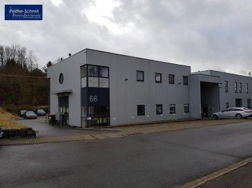 Hall faisant 235m2, et 120m2 de bureaux au premier étage, et 8 parkings double profondeur, pour 16 voitures, situé dans la Zone artisanale Kaercherwee à Steinfort.<br>Accès Autoroute A6 à 3 Km<br />Ref agence :725842