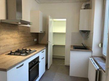 3 pièces - 54.77m2.  Appartement 3 pièces rénové situé au troisième étage d\'un immeuble rue Villebois Mareuil à Nancy. Il comprend une entrée, un séjour, une cuisine équipée neuve et séparée, deux chambres, une salle d\'eau neuve, WC séparé.<br> Chauffage individuel au gaz.<br>