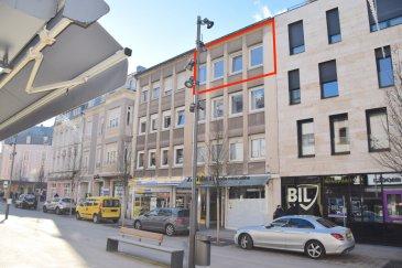 L'agence IMMO LORENA de Pétange a choisi pour vous un magnifique appartement de 92 m2 situé en PLEIN COEUR de la VILLE de DUDELANGE au 3ème étage sans ascenseur, dans une petite résidence de 8 unités, à proximité des commerces, banques, restaurants, transports en commun et toutes commodités. L'appartement se compose comme suit:  - Hall d'entrée de 7,60 m2 - Double-Living de 21 m2 avec une cuisine ouverte toute équipée  de 12 m2 - Chambre ou bureau de 10 m2 donnant accès au balcon de 2,50 m2 - Hall de nuit de 7,60 m2 amenant à deux chambres de 14,20 m2 et 12 m2 - Salle de bain avec douche de 5 m2 - Débarras de 3 m2   Un grenier privatif ainsi qu'une cave privative de 9,20 m2 viennent compléter ce bien.    A VOIR ABSOLUMENT!!!!  Pour tout contact: Joanna RICKAL: 621 36 56 40 Vitor Pires: 691 761 110   L'agence ImmoLorena est à votre disposition pour toutes vos recherches ainsi que pour vos transactions LOCATIONS ET VENTES au Luxembourg, en France et en Belgique. Nous sommes également ouverts les samedis de 10h à 19h sans interruption.