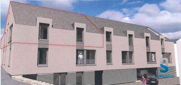HOMESELL vous propose ce grand duplex situé au 2ème étage d'une surface de 86,5m².  Ce bien se compose comme suit :  - 2 grandes chambres - une cuisine ouverte sur le séjour - une salle de bain - WC séparé - un débarras - une terrasse - cave, buanderie commune, 1 emplacement intérieur et 1 extérieur font partie de ce bien.  Prix: 561.964,71'   3% TVA incl. * * sous condition d'acceptation par l'Administration de l'Enregistrement  Pour plus de renseignements contactez-nous par tél: 28 11 22-1 ou sur info@homesell.lu  Homesell, votre guide de l'immobilier!  www.homesell.lu Ref agence :48