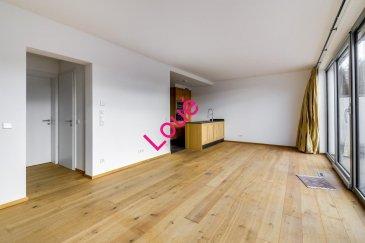 REMAX, spécialiste de l'immobilier à Luxembourg, vous présente en exclusivité à la location ce magnifique Penthouse d'environ 83m2, au 4ème et dernier étage d'une résidence construite en 2011, et située à Luxembourg-Dommeldange.   Venez découvrir cet appartement composé d'un hall d'entrée avec placards, d'une cuisine équipée ouverte sur le séjour de +- 30 m2 avec un accès sur une terrasse de 46m2 offrant une magnifique vue dégagée.   Vous y trouverez deux chambres avec placards sur mesure: chacune donnant accès à sa salle de douche privative. Viennent compléter ce bien un WC séparé, ainsi qu'un débarras. Finitions de qualités et matériaux nobles.  Au sous-sol, vous disposez d'une grande cave privative, ainsi que d'une buanderie commune, d'un local pour vélos et d'un local poubelles.  Cet appartement offre également une place de parking intérieure, et une extérieure.  Disponibilité immédiate.  N'hésitez pas à me contacter au 661 34 99 34 ou par mail: natacha.ombri@remax.lu Natacha Ombri Ref agence :5095773