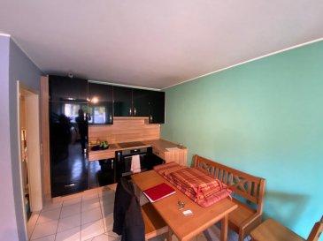 A VENDRE  Appartement situé à Differdange-Centre:  - Hall d'entrée - Cuisine équipée - Salon/ Living  - Salle de douche - 1 chambre à coucher   - Cave  - Buanderie  - 1 emplacement extérieur    Nous vous invitons à nous rendre visite ou contacter l'un de nos commerciaux pour plus d'informations.  M. Moura Jemp +352621216646  M. Marc Risch +352621210333   Les surfaces et superficies sont indicatives  Rejoignez-nous sur Facebook : Newjomar Belval