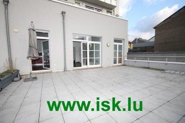 Bonnevoie Bel appartement moderne avec 1 chambre à coucher, salle de bains, living, cuisine équipée séparée et terrasse de 68 m2, cave et parking intérieur Libre à partir de Juin 2015 Ref agence :916712