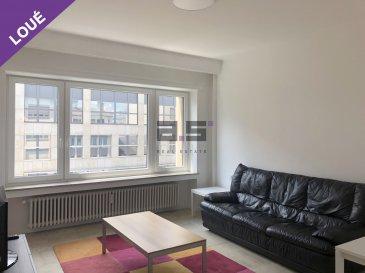 English version bellow.  FR : A.S. Real Estate, vous propose à la location ce lumineux appartement meublé de +/- 44 m² au cinquième étage d'une résidence idéalement situé sur l'Avenue de la Gare.   Celui-ci se compose d'un hall d'entrée, d'une cuisine séparée et entièrement équipée, d'un living de +/- 16m², d'une grande chambre de +/- 14.50m² et d'une salle de douches entièrement équipée.  L'excellente situation de cet appartement vous permet d'accéder rapidement aux quartiers Kirchberg et Cloche d'Or grâce au tram et au vaste réseau d'autobus. Le Centre-Ville de la capitale se trouve à 5 minutes à pied.  Pour tous renseignements ou pour convenir d'une éventuelle visite, veuillez nous contacter au (+352) 621 274 674 / 621 273 737 ou à info@as-estate.lu.   EN : A.S. Real Estate is proposing you this bright and furnished apartement of 44 sqm at the fifth floor of a residence ideally located on the Avenue de la Gare.  It's composed of an entrance hall, a seperated and fully equiped kitchen, a living room of +- 16 sqm, a bedroom of +-14,50 sqm and a fully equiped shower room.  The excellent situation of this apartement enables you a quick acces to the Kirchberg and Cloche d'Or quarters, via tram and the wide bus network. The city Center is only five 5 minutes walk away.  For further information or to plan a visit, please contact us on (+352) 621 274 674 / 621 273 737 or at info@as-estate.lu