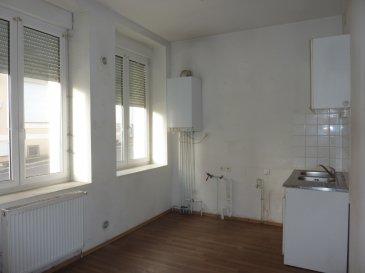 appartement avec entrée privative au rez-de-chaussée: cuisine ouverte sur séjour, 2 chambres, salle de bains, vendue sans garantie du fonctionnement de la chaudière, prévoir quelques travaux