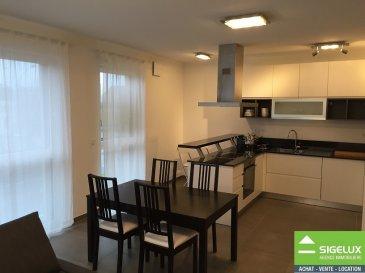 Détails de la location Loyer mensuel : 1600 € Provision sur charges : 250 €  Dépôt de garantie : 4800 € Meublé : oui Type de mandat : Exclusif Disponibilité : Immédiate   Description du bien Luxembourg-Belair ----- A LOUER : Appartement de standing (60m2) au 1ier étage - Hall d'Entrée avec Garde-robe - Living avec cuisine équipée ouverte - 1 chambre à coucher - Salle de bain avec baignoire - WC séparé -  Cave ----- Les +  - garde-robe - chambre à coucher avec parquet, 1 lit double & armoires intégrées - Living avec Canapé lit, table, 4 chaises &TV LED - salle de bain avec lave-linge et sèche-linge - chauffage au sol - triple vitrage - finitions luxurieuses - situation proche transport en commun (arrêt de bus & station Véloh) - Parking résidentiel (vignette gratuite)