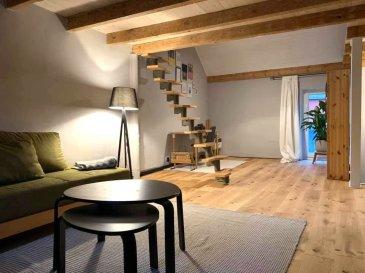 Immo Nordstrooss vous propose cet appartement d'une surface habitable de 100m2 situé à Tetange.  L'appartement se compose comme suite:  - cuisine équipée, - living, - salle de bain, - 2 chambres à coucher, Le jardin et le garage privatif complètent le tous.  Pour plus d'informations n'hésitez pas à nous contacter au 691 450 317. Ref agence :186