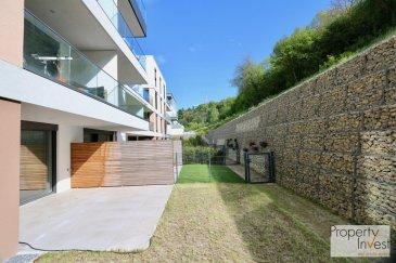 -- FR --<br/><br/>L\'agence Property Invest vous propose en location:<br><br>un magnifique appartement (construction récente). L\'appartement dispose d\'une surface habitable de +/-55 m2 situé au rez-de-jardin d\'une résidence sise dans une rue calme \