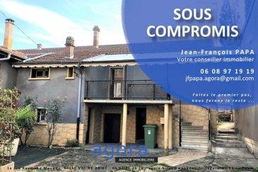 ***SOUS COMPROMIS***  Au calme d'un charmant village à 10 km de Pagny-sur-Moselle, maison de plain-pied composée d'un hall d'entrée, une cuisine, un salon, une salle à manger avec sur une grande terrasse, une salle de bain, un wc, deux chambres, sous-sol complet le tout sur un terrain de 4,53 ares.  AGENCE AGORA BRIEY 03 82 20 25 26