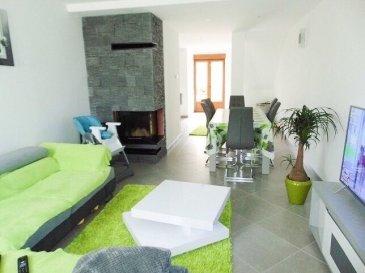 HOUSE FOR YOU vous propose une exceptionnelle maison entièrement rénovée à l'intérieur, d'environ 165m2 située à Volmerange-les-mines.   Vous trouverez au rez-de-chaussée surélevé un belle cuisine complètement équipée neuve (+-15m2) ouverte sur la salle à manger, le salon avec cheminée (+-30m2), WC séparé et sortie sur la terrasse et le jardin.   Un escalier en béton vous emmènera au premier étage avec un hall de nuit (+-20m2) desservant 2 chambres à coucher (18,80m2 et 17,14m2) et une belle salle de bain avec baignoire et douche italienne (+-13m2).  Un escalier neuf en bois vous emmènera vers le deuxième étage avec un grand hall servant de séjour et bureau (+-27m2) desservant 2 chambres à coucher (11,82m2 +12,15m2) et une belle salle de douche.   Au sous-sol vous trouverez une cave, une pièce aménagé en bureau et une buanderie.   Un garage, une terrasse de 72m2 et un grand jardin complète cette belle maison.   Informations: - Dalles en béton - Double vitrage - Porte garage électrique avec porte sectorielle  - installation cheminée 2017 - Électricité et canalisations 2016-2017  Pour informations et visites, nous nous tenons à votre disposition.