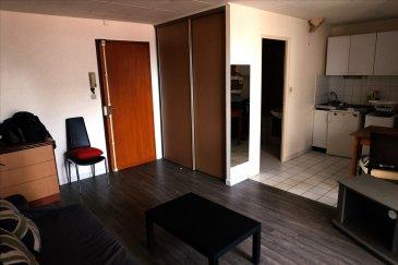 <<SOUS COMPROMIS DE VENTE>>  STUDIO HYPER CENTRE plein de charme au coeur historique de la ville de MULHOUSE. Ce studio d\'une superficie de 26 m²  comprend 1 pièce à vivre donnant sur 1 terrasse de 14m² et 1 coin cuisine ouvert sur le séjour, 1 salle de bain avec WC le tout d\'une superficie de 26m².  L\'avis MATT IMMO un studio au centre ville, disposant d\'une terrasse est un atout indéniable RARE.  IDEAL INVESTISSEUR ( loyer annuel 4500 € ) très bonne rentabilité