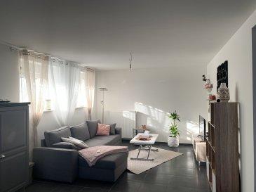 Appartement entièrement neuf de 88m2 .  MONTAUVILLE<br> Bel appartement au rez de chaussée, entièrement neuf comprenant :<br> - une cuisine équipée ouverte sur un grand séjour<br> - salle de bain<br> - toilette séparé<br> - 1 grande chambre<br> le bien comprends également un cellier ( 14m2 ) et place de stationnement<br> Loyer : <br> 534,16EUR + 40EUR de charges ( ordures ménagère, entretien de chaudière et eau froide )<br> Loyer total : 574,16EUR<br><br>