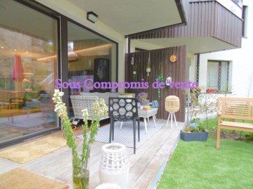 -- FR --<br/><br/>New Keys vous propose en exclusivité ce beau est grand appartement de +/- 120m2  avec terrasse et jardin de +/-80m2 au calme a deux pas de Kirchberg.<br /><br />Il se compose de: <br /><br />1 Hall d\'entrée<br />1 Grand salon/séjour<br />1 Cuisine US équipé avec ilot central <br />3 Chambres dont une suite parentale avec dressing et salle de bain privative<br />2 Salle de bain<br />1 Débarras<br />1 Buanderie<br />1 WC séparé<br />1 Terrasse <br />1 Jardin Privatif<br />1 Cave <br />1 Emplacement intérieur<br /><br />  Idéalement situé, fenêtres triple vitrage, chauffage central au pellet, a 5 minute de Kirchberg, pas de vis-à-vis, proche de toutes commodités, pas de travaux à prévoir.<br /><br />Pour tout renseignements et/ou visite:<br />+352 691311709<br />amarinthe@newkeys.lu<br /> <br />Ref agence :5003321