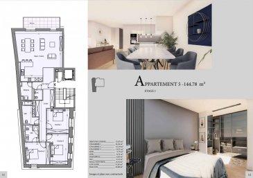 Efapromo vous propose un appartement dans une résidence en cours de construction à Mondercange.<br><br>Utilisant des matériaux noble et chic, cette résidence de haut standing  à tous les atouts pour vous combler de bonheur.<br><br>Appartement numéro 5 situé au 1er étage<br><br>-Séjour / cuisine: 51.83 m2<br>-Chambre 1 : 14.56 m2<br>-Chambre 2 : 15.19m2<br>-Chambre 3) : 14.21<br>-Sdb: 8.74 m2<br>-Sdd : 5.72<br>-WC : 2.15m2 <br>-Débarras : 4.83m2<br>-Dall de nuit : 8.32 m2 <br>-Couloir: 13.65 m2<br>-Balcon : 10.80<br>-Cave: oui<br><br>Prix avec TVA 3% incluse<br><br>Pour recevoir les plans et cahier des charges, contactez :<br><br>Emmanuel : 691355050<br>Email: manuefapromo@gmail.com<br><br>Jordan : 691129633<br>Email: jordan@efapromo.lu<br><br><br>