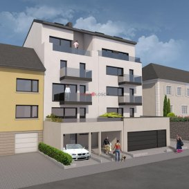 -- FR --  Nouveau projet à Luxembourg Muhlenbach   La résidence  comporte 5 étages, 5 appartements, une buanderie commune, un local vélo et un ascenseur.  Le bien se trouve idéalement au centre de Luxembourg Muhlenbach à quelques pas de la forêt du Bambësch, à 5 minutes à pied de la place Dargent, à 15 minutes à pied du funiculaire et de la Gare Kirchberg, des commerces, supermarchés, médecins, pédiatres, jardins d\'enfants, écoles et des transports communs.  L\'appartement au deuxième étage a une surface cadastrale de +/-66m2 et dispose d\'un spacieux salon avec une cuisine ouverte et accès sur la terrasse de +/-22m2, une salle de douche, une chambre à coucher, un dressing et un WC séparé.    Un jardin privatif de +/-80m2 orienté plein SUD fait partie de l\'appartement, ainsi qu\'une cave privative au RDCH.  Une cuisine équipée est comprise dans le prix de vente. Les travaux sont déjà bien avancés et le bâtiment est en gros oeuvre fermé.  Prix affiché est TTC 3%. Prix TVA 17%: 829.152.- \'  N\'hésitez pas à nous contacter pour recevoir les plans de la résidence.   -- EN --  New Project at Luxembourg Muhlenbach  The residence  contains 5 floors, 5 apartments, a common laundry room, a bikes space and an elevator.  The property is ideally located in the center of Luxembourg Muhlenbach a few steps from the Bambësch forest, a 5 minute walk from Place Dargent, a 15 minute walk from the funicular and Kirchberg station, close to shops, supermarkets, doctors , paediatricians, kindergartens, schools and public transport.  The apartment on the 2nd floor has a living area of +/-66m2 and includes a spacious living room with an open kitchen and an access towards a +/- 22m2 terrace, a shower room, a bedroom, a walk-in wardrobe and a separate toilet.   A private garden of +/- 80m2 facing south is part of the apartment, as well as a private cellar in the RDCH.  A fitted kitchen is included in the sale price. Construction is already well advanced and the building is roofed.  Displayed price includes 3% VAT Price + 17% VAT: 829.152.- \'  Don\'t hesitate to contact us to receive related documents and plans. Ref agence : 1213188