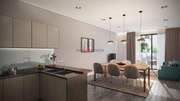 -- FR --  Nouveau projet à Luxembourg Muhlenbach   La résidence Lara comporte 5 étages, 5 appartements, une buanderie commune, un local vélo et un ascenseur.  Le bien se trouve idéalement au centre de Luxembourg Muhlenbach à quelques pas de la forêt du Bambësch, des commerces, supermarchés, médecins, pédiatres, jardins d'enfants, écoles et des transports communs.  L'appartement au deuxième étage a une surface cadastrale de  /-66m2 et dispose d'un spacieux salon avec une cuisine ouverte et accès sur la terrasse de  /-22m2, une salle de douche, une chambre à coucher, un dressing et un WC séparé. Une cave privative au RDCH et un jardin privatif de  /-80m2 appartiennent à l'appartement.  Prix affiché est TTC 3%. Prix TVA 17%: 883.112,- ? Prix HTVA: 845.891,42 €  N'hésitez pas à nous contacter pour recevoir les plans de la résidence.   -- EN --  New Project at Luxembourg Muhlenbach  The residence  contains 5 floors, 5 apartments, a common laundry room, a bikes space and an elevator.  The property is situated ideally in the centre of Luxembourg Muhlenbach at a walking distance from the Bambësch forest, shopping outlets, supermarkets, medical clinics, children's playgrounds, schools and public transports.  The apartment on the 2nd floor has a living area of  /-63m2 and includes a spacious living room with an open kitchen and an access towards a  /- 22m2 terrace, a shower room, a bedroom, a walk-in wardrobe and a separate toilet. A private cellar on the ground floor and a private garden of  /- 80m2 belong to the apartment.  Displayed price does not include taxes. Price   17% VAT: 890.602,50 € Price   3% VAT: 859.950,25 €  Don't hesitate to contact us to receive related documents and plans.  Ref agence :1213188