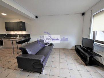 DISPONIBLE DE SUITE<br>New Keys vous propose ce charmant appartement rénové à louer avec le mobilier. <br><br>Idéalement situé, dans une impasse résidentielle  de la commune de Mersch, ce bien au 3ième et dernier étage sans ascenseur se présente de la manière suivante:<br><br>-Hall d\'entrée<br>-Cuisine équipée ouverte sur le living<br>-Débarras<br>-Living avec accès au balcon<br>-Salle de douche avec toilettes et évacuation pour la machine à laver<br>-Balcon avec une belle vue dégagée<br>-Emplacement de parking privé<br><br>Arrêt de bus à proximité, 5 minutes à pied du parc de Mersch, gare de Mersch à 15min à pied, proche de l\'accès à la route du Nord (15 min de route du Kirchberg).<br><br>Loyer: 1 100 €<br>Avance sur charges mensuelles: 165 €<br>Caution: 1 100 €<br>Honoraires d\'agence: 1 287 € TTC<br><br>N\'hésitez pas à nous contacter au +352 691 216 830 ou par mail smarrocco@newkeys.lu pour plus d\'informations ou une éventuelle visite. <br><br><br />Ref agence :5003350