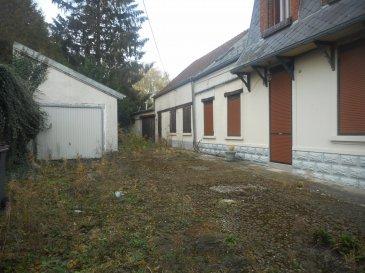 maison de village proche CAUDRY individuelle.  maison de village individuelle avec garage et dépendance comprenant :<br> hall d\'entrée - salon salle à manger - cuisine équipée - salle de bains - w.c - 1 pièce<br> etage : palier - 4 chambres - salle de bains - dressing<br> pergola - terrasse - jardin<br> c.c gaz<br> PRIX : 126.000 EUROS HNI dont 5% d\'honoraire à la charge de l\'acquéreur<br> PRIX NET VENDEUR 120.000 EUROS