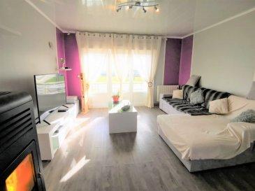 A VOIR ! Très belle maison d'env. 140m² habitables, complètement rénovée sur 6 Ares, dans quartier calme.  Composé a l'espace de vie d'un grand salon séjour ouvert sur la cuisine équipée et la terrasse auto-portée de 15m² ainsi que le jardin complètement clôturé. De deux chambres. D'une salle de bain avec douche italienne. D'un WC suspendu.  Au 1er étage d'une grande chambre de 32m². D'une autre pièce de 32m² pouvant servir d'espace de loisir ou de détente mais également de 4ème chambre.  Au sous sol de 3 caves, d'une buanderie et d'un grand garage (porte motorisé) avec accès sur le jardin.  Maison complètement rénovée :  Chauffage électrique et poêle a pellets  triple vitrage, volets motorisés velux avec détecteurs de pluie  isolation de la toiture avec laine de roche de 7cm entre chevron croisé par isolation fine multicouche ,  plafond sous sol isolé avec laine de roche de 10cm +4cm de polystyrène extrudé  électricité refaite entièrement  plomberie tous les éléments sont alimentés indépendamment par nourrice eau chaude et eau froide  évacuation remplacé tout en pvc  isolation phonique sur mur mitoyen avec laine de roche +Ba 13  vidéo surveillance avec 5 cameras sur façade + phare à led avec détecteur de présence  A 30km d'Esch sur Alzette, a 15km de Briey, a 40km de Thionville, a 50km de Metz.  VISITE VIRTUELLE SUR DEMANDE MANDAT EXCLUSIF FRAIS D'AGENCE A CHARGE VENDEUR CONTACTER VANESSA AU 06 74 96 24 23