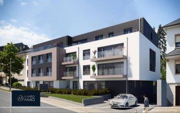 Manso Immo vous propose à la vente, une nouvelle RESIDENCE située à Niederkorn (acte sur terrain) disponible au 1er semestre 2023. La surface pondérée des appartements varie entre 56m2 et 104m2, allant de 1 à 3 chambres à coucher.  L'appartement 047 est situé au dernier étage, d'une surface habitable de 94.67m2 de 2 chambres à coucher, cuisine, living, salle de bains, wc séparé et une belle et grande terrasse de 35.66m2   Chaque appartement dispose d'une cave inclus dans le prix et les emplacements de parking intérieurs sont disponible à partir de 25.000€ TVA 3%. Le prix annoncés s'entendent TVA 3% inclus (sous réserve de l'acceptation du dossier par l'Administration de l'Enregistrement et des Domaines. Les images sont présentées à titre indicatif et ne sont pas contractuelles, elles représentent un agencement possible de l'appartement, modification possible après accord avec le promoteur et l'architecte.  Les prix affichés s'entendent frais d'agence inclus. Les honoraires d'agence sont à charge des vendeurs.  Pour plus d'informations ,photos ou convenir d'un rendez-vous , vous pouvez nous contacter au : +352 24 51 33 79 info@mansoimmo.lu  PRIX :732.364,40€