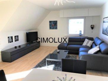 L'agence CIMOLUX vous propose un bel appartement entièrement rénové en 2015 et également entièrement meublé avec une superficie de +/-75m2.  L'appartement dispose un hall d'entrée, une buanderie privé, un salon/salle à manger, une cuisine équipée séparée, une salle de douche, une chambre à coucher, un balcon, une cave et un emplacement intérieur.  Disponible le 1er août 2017.  Le bien se situe proche de toutes commodités.  Pour plus d'informations, n'hésitez pas à contacter Madame Jenny NETO au 691 85 77 08 ounotre agence,nous parlons français, allemand, luxembourgeois, anglais, portugais et italien. Ref agence :1441902