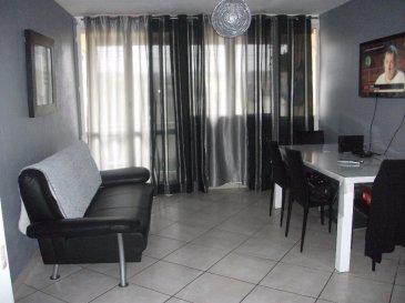 JOEUF APPARTEMENT  F3  59 m². SOUS COMPROMIS<br>Au 2ème  étage , appartement de type  F3 composé d\'une entrée, 1 cuisine semi-équipée, un séjour ouvert sur loggia, 2 chambres avec placards, 1 salle de bain avec meuble vasque et baignoire d\'angle, un wc séparé.<br>Au sous-sol : 2 caves<br>Chaudière individuelle gaz+production eau chaude<br>Electricité refaite<br>Copropriété de 60 lots dont 20 lots d\'habitation<br>Charges annuelles : 860 euros<br><br>Copropriété de 60 lots <br><br> Charges annuelles : 860 euros.
