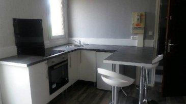 REF 5937  Studio secteur Berck Plage  de 27 m² au 1er étage sans ascenseur:   Entrée avec placard, salle de vie avec coin cuisine équipée, salle d\'eau avec wc.  Petit cellier.  DPE E et GES 17