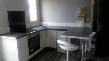 REF 5937  Studio secteur Berck Plage  de 25 m² au 1er étage sans ascenseur:   Entrée avec placard, salle de vie avec coin cuisine équipée, salle d\'eau avec wc.  Petit cellier.  DPE E et GES 17